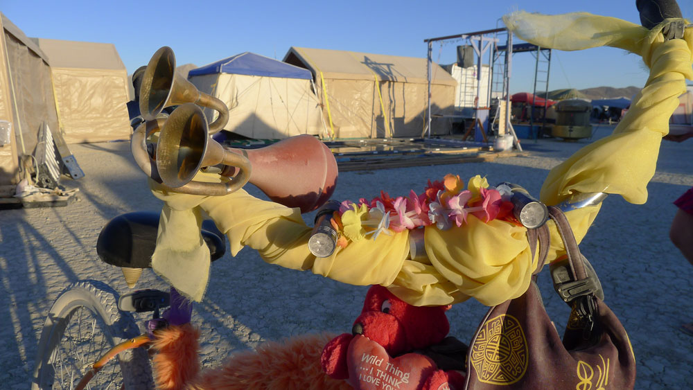 Squeeze Horns on the Playa